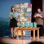 Татьяна Валерьевна Рудишина оглашает победителей специального приза «Выбор библиотек»