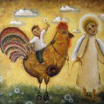 Леонтьева Наталья «Ночью ангел к нам спустился, и сказал: «Христос родился». Иллюстрация к колыбельной»