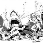 Taty Payansky «Иллюстрация к произведению  Ж. Верна «20 000 лье под водой»