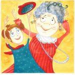 Стенина Екатерина (Россия, Москва). «Бабушка и внучка прыгают до потолка (кр. шапочка)»