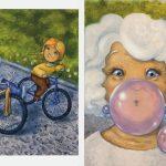 Шерова Елена silent book  «Когда бабушка стала маленькой»